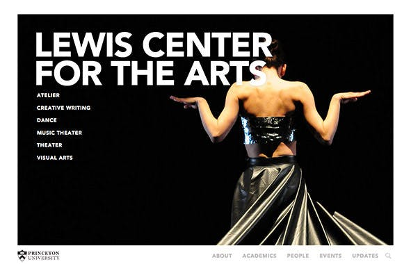 Princeton Lewis Center for the Arts screenshot