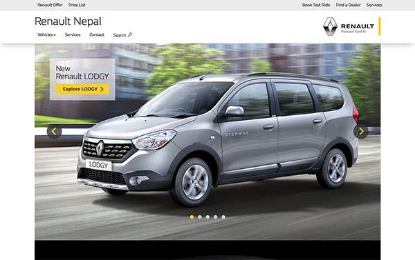 Renault Nepal screenshot