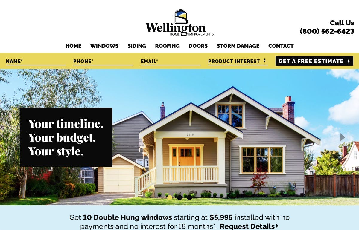 Wellington Home Improvements screenshot