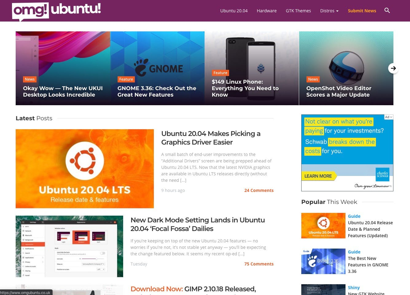 OMG! Ubuntu screenshot