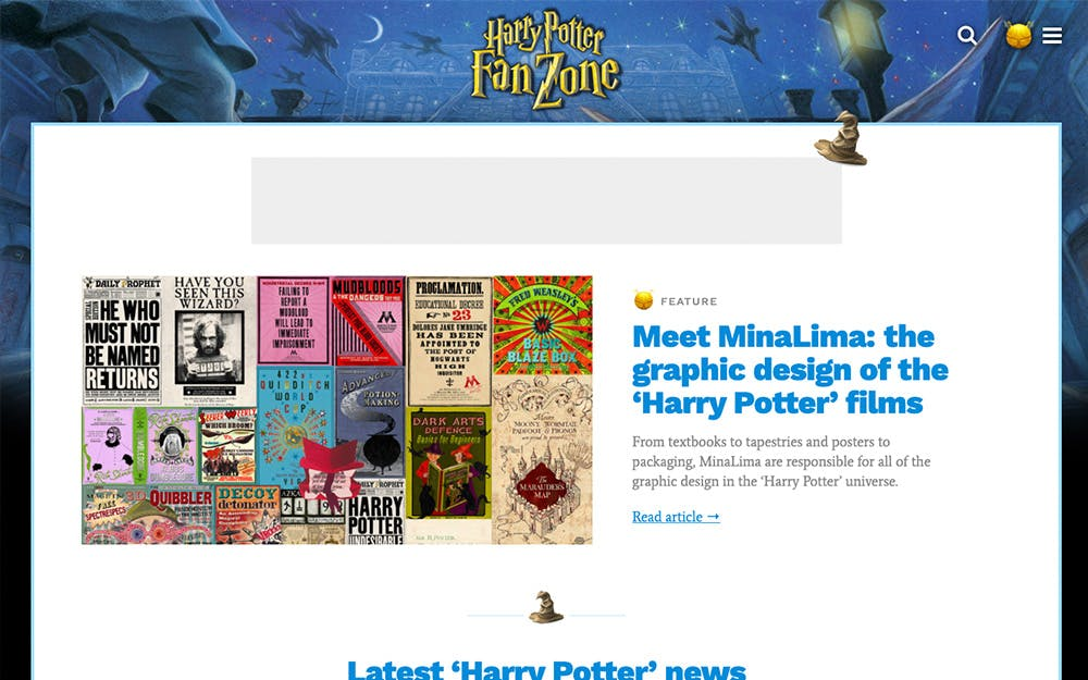 Harry Potter Fan Zone screenshot