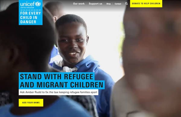 UNICEF screenshot
