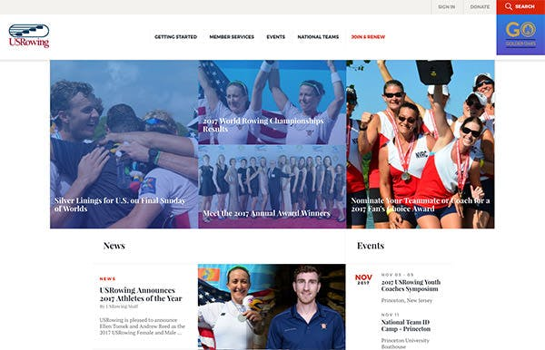 US Rowing Team screenshot