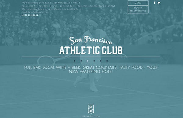 San Francisco Athletic Club screenshot