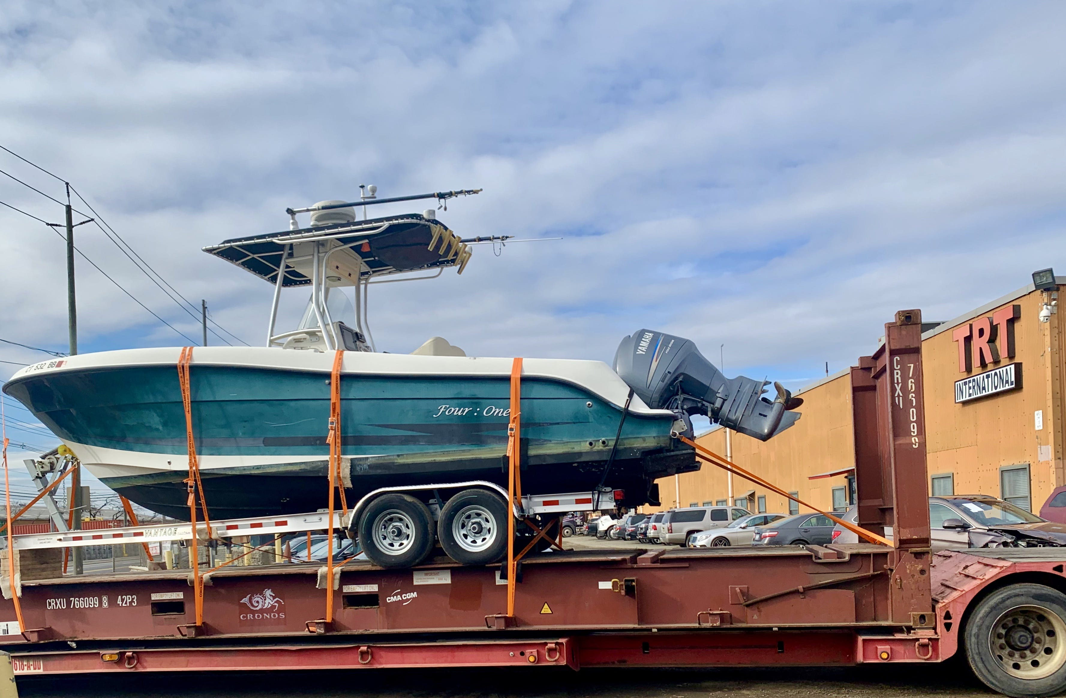Boat on Flatbed