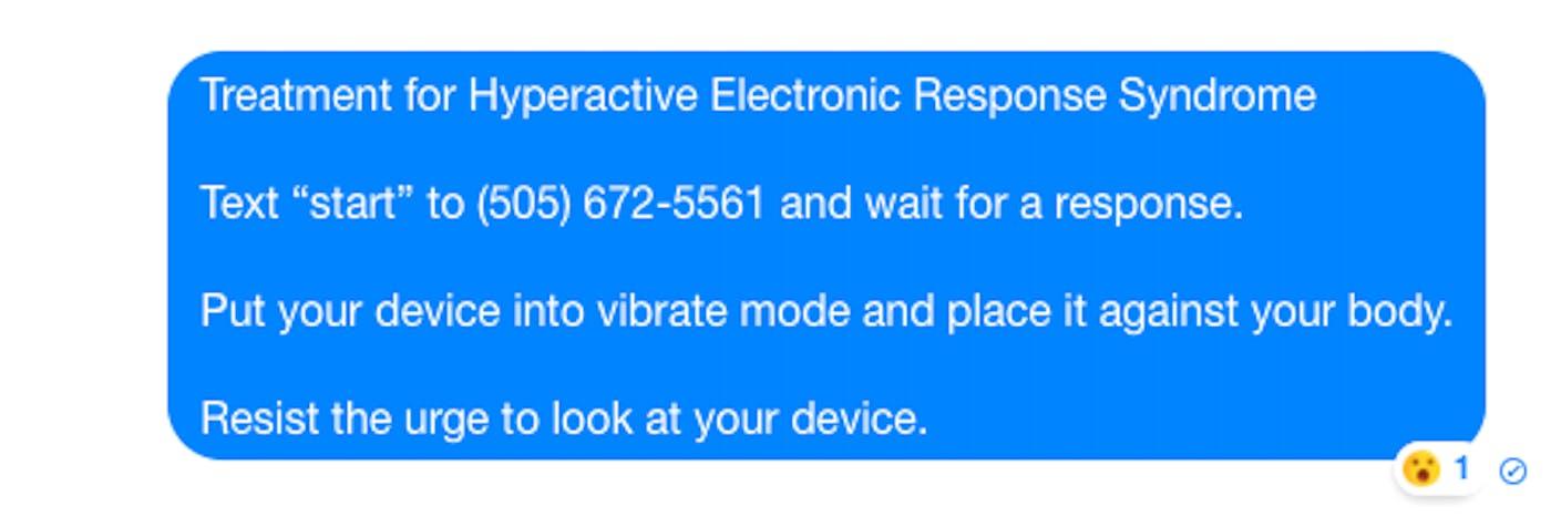 Luke Loeffler, Treatment for Hyperactive Electronic Response Syndrome, 2014