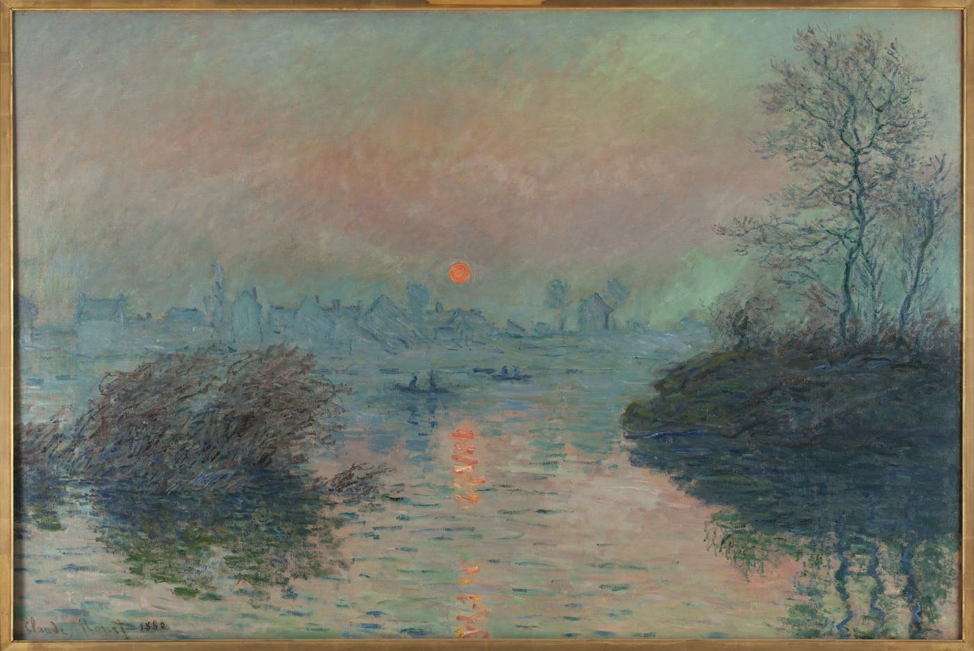 Soleil couchant sur la Seine à Lavacourt by Claude Monet, at Petit Palais, Paris.
