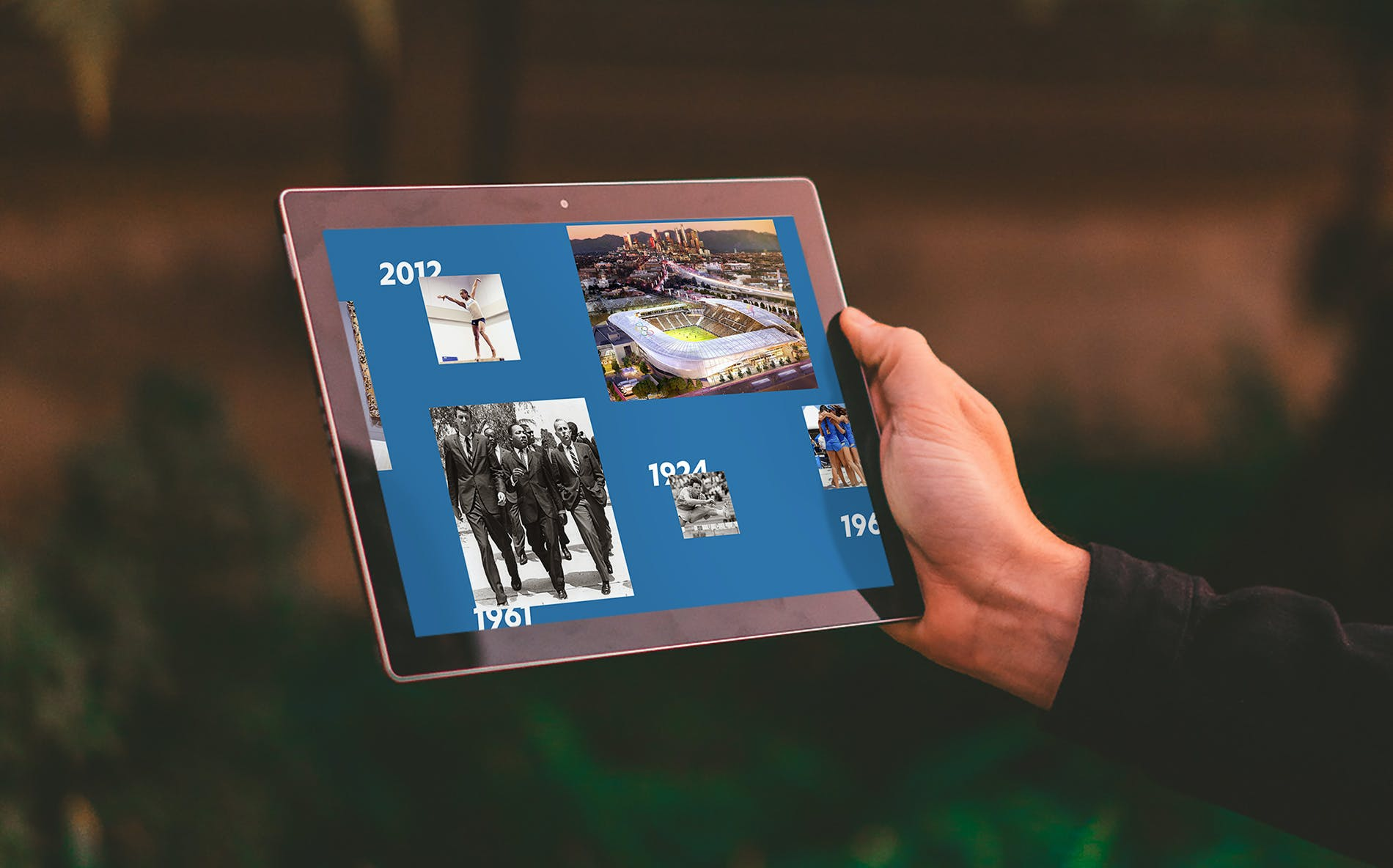 UCLA 100 website in iPad