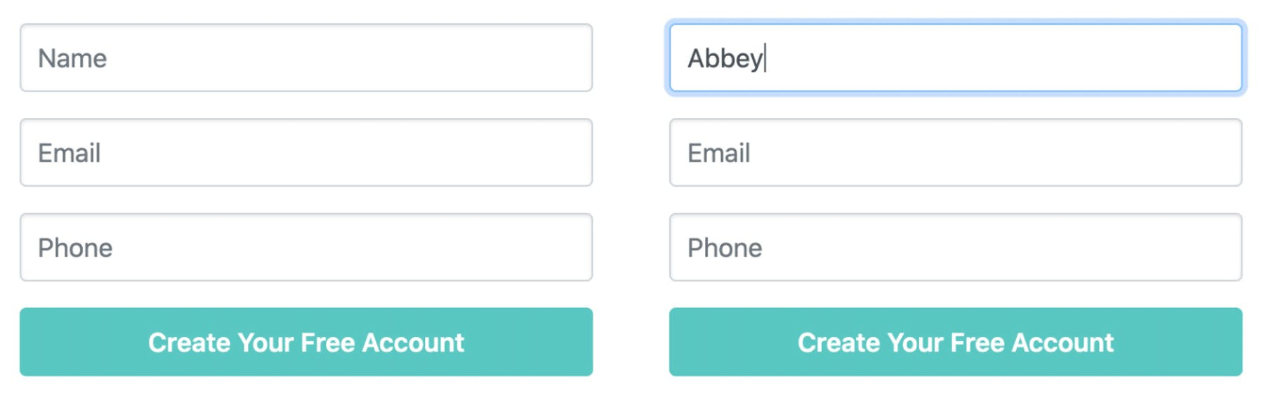form field labels
