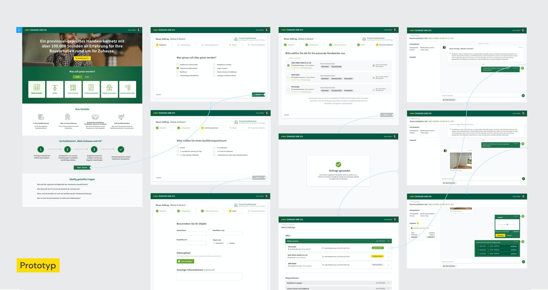Click-Dummy - B2B Prototyp in der Versicherungsbranche