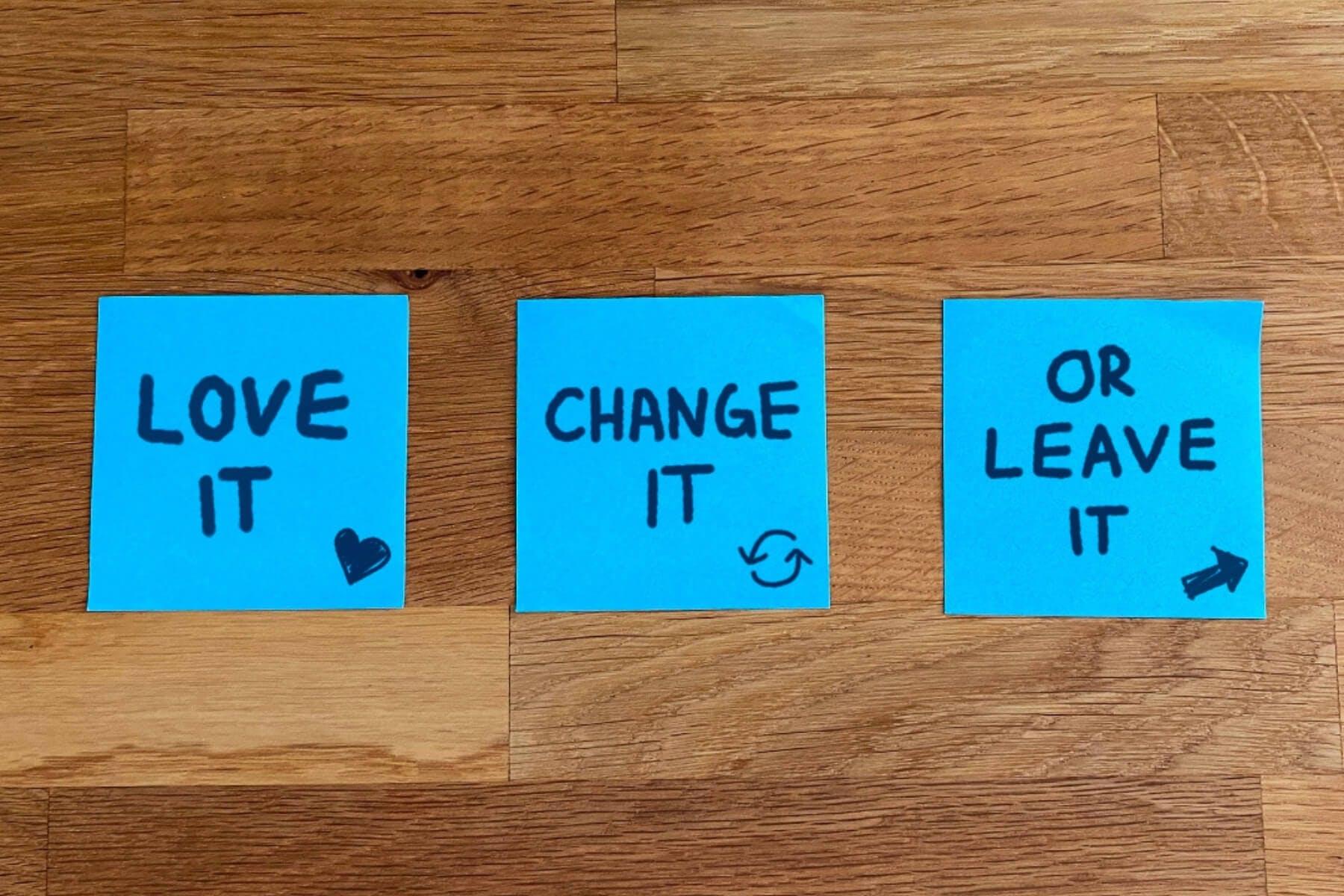 Entscheidungshilfe in der Produktentwicklung: Love it, change it, leave it