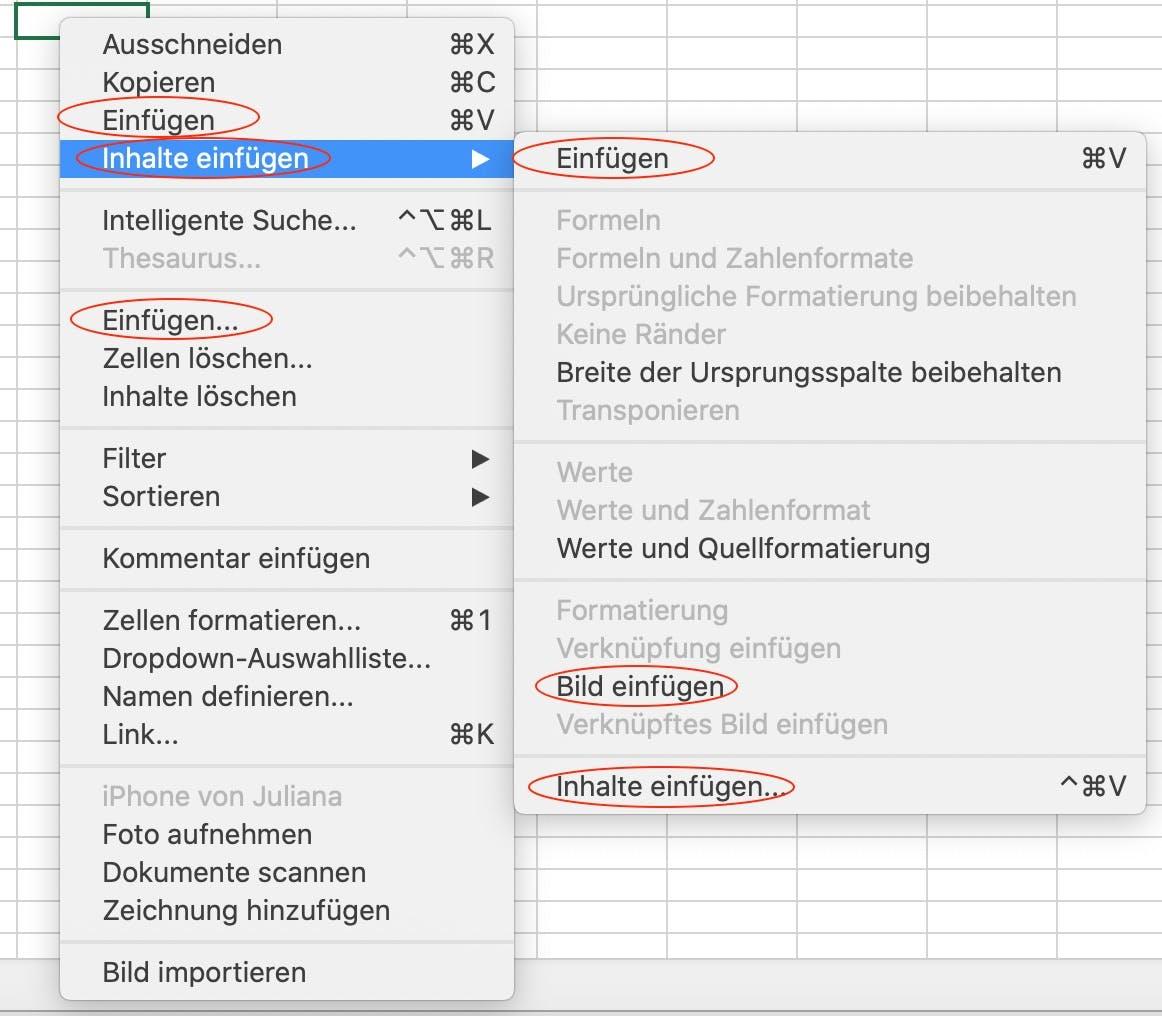 UX Writing: Beispiel Excel