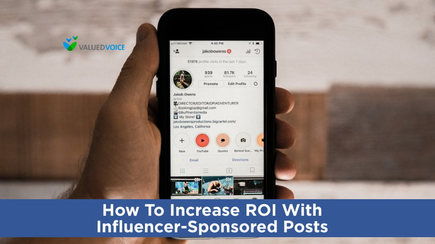 How to Increase ROI with Influencer-Sponsored Posts