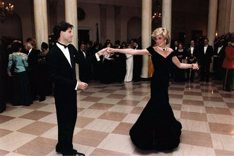 Princess Diana of Wales dancing with John Travolta