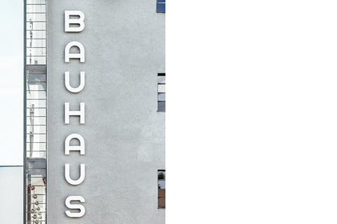 View of the Bauhaus in Dessau, Germany