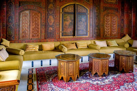 Room with oriental carpet