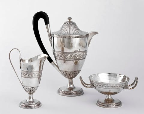 antique silver pitchers