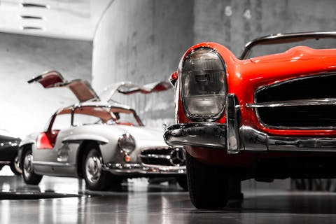 cars in gallery