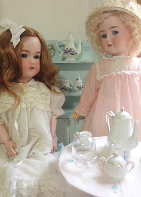 Two antique porcelain dolls