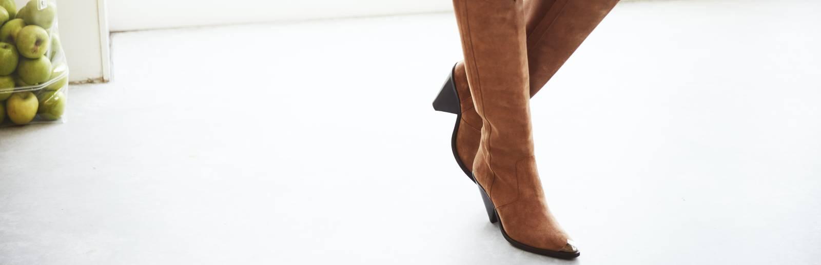laarzen met brede schacht