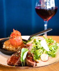 The wine bar offers tapas style small plates and daily features made with local ingredients, as well as craft beer from Vancouver, cocktails and spirits and a selection of local and international wine.