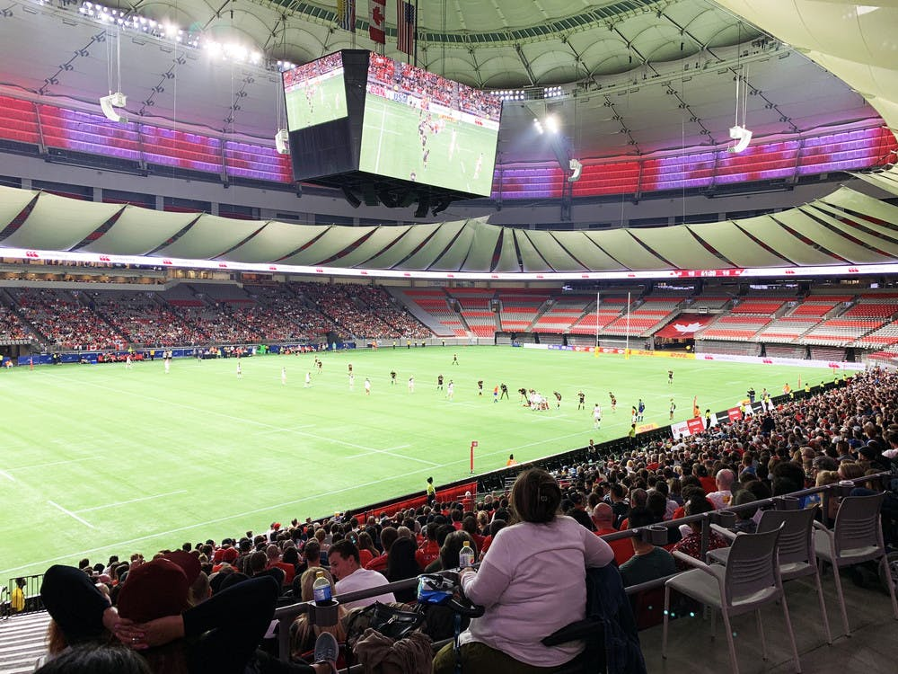 Rugby at BC Place Stadium