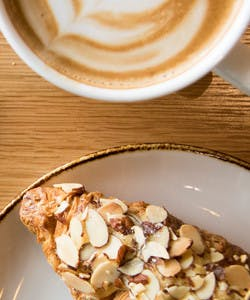 LOT185 offers fresh pastries baked in-house by the pastry team at the Vancouver Convention Centre and  ethically-sourced coffee from local roaster Moja Coffee in our Cafe.