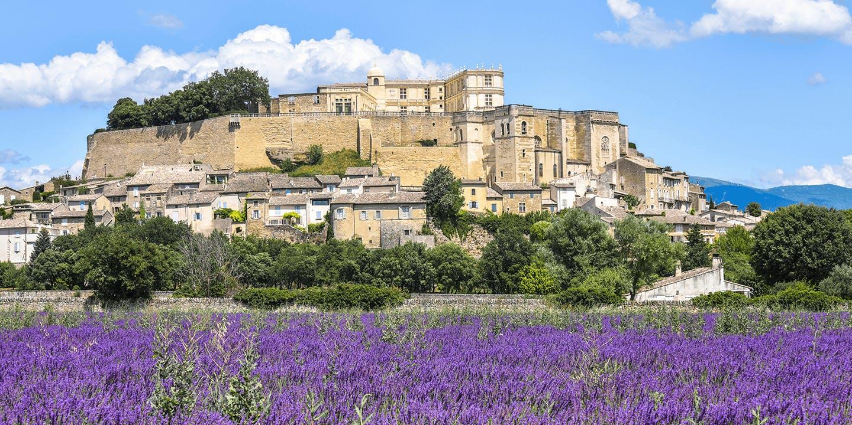 Un paysage typique de la Drôme