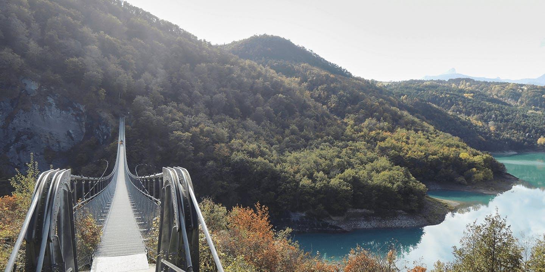 La Passerelle du Drac dans l'Isère