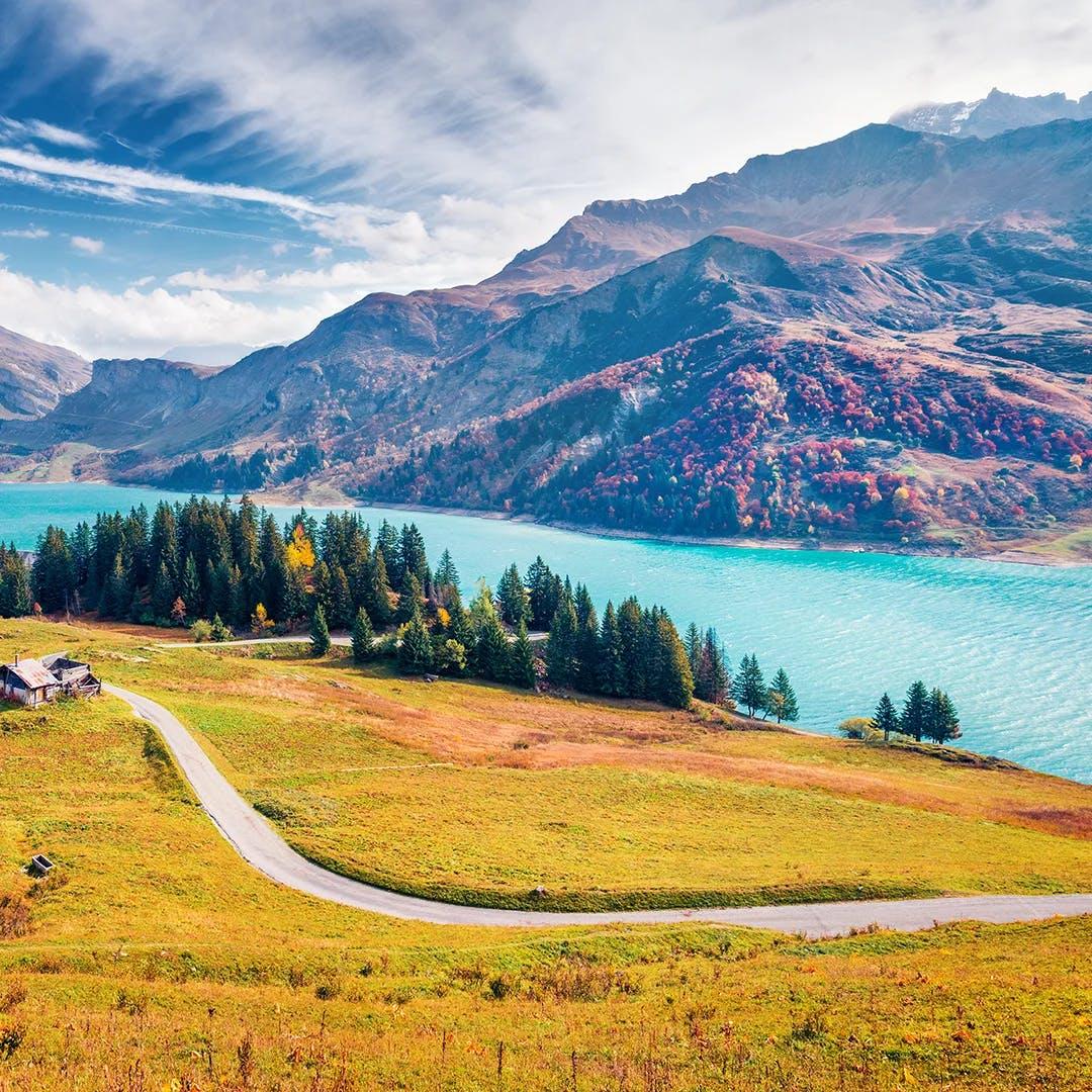 Le Lac de Roselend en savoie