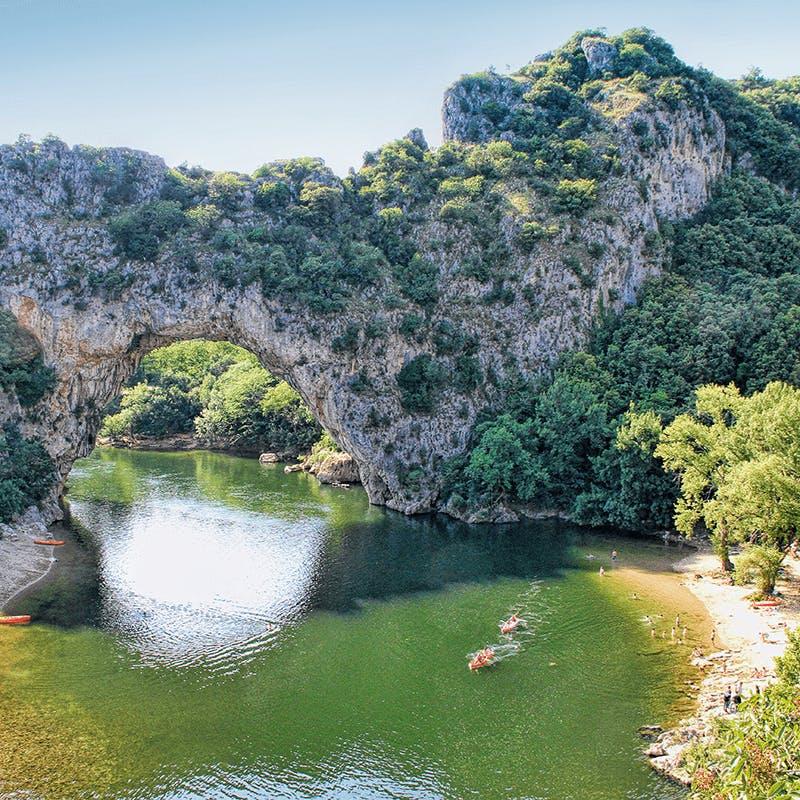 Le célèbre Pont d'Arc dans l'Ardèche