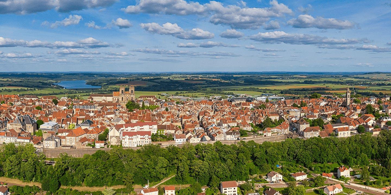 Une vue sur la ville de Langres, dans la Haute-Marne