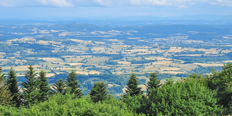 La vue du Mont Beuvray