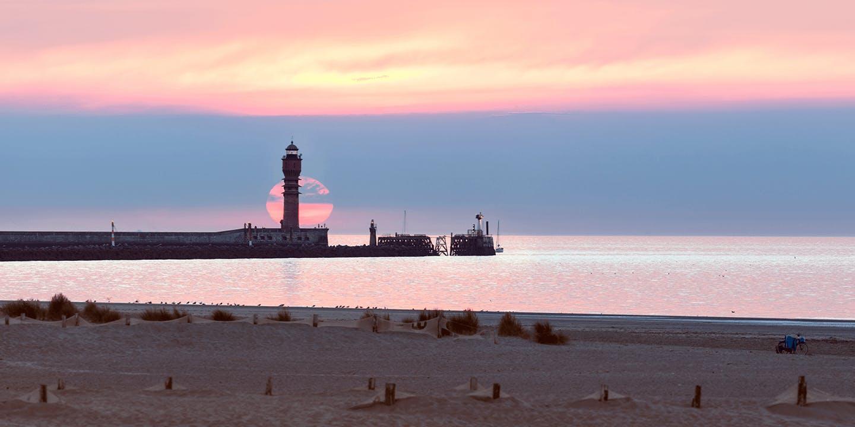 Le coucher de soleil à Dunkerque