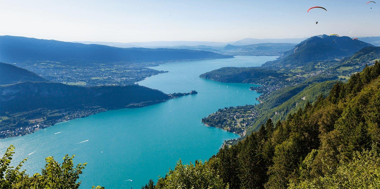 La vue sur le Lac d'Annecy