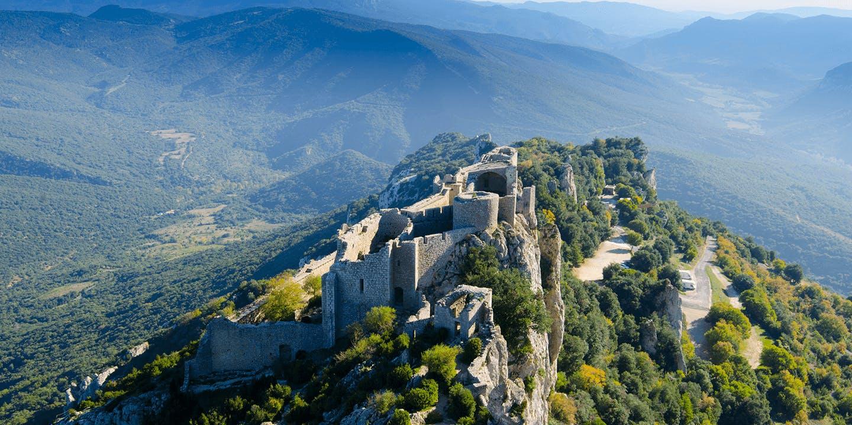 Le Château de Peyrepertuse dans l'Aude