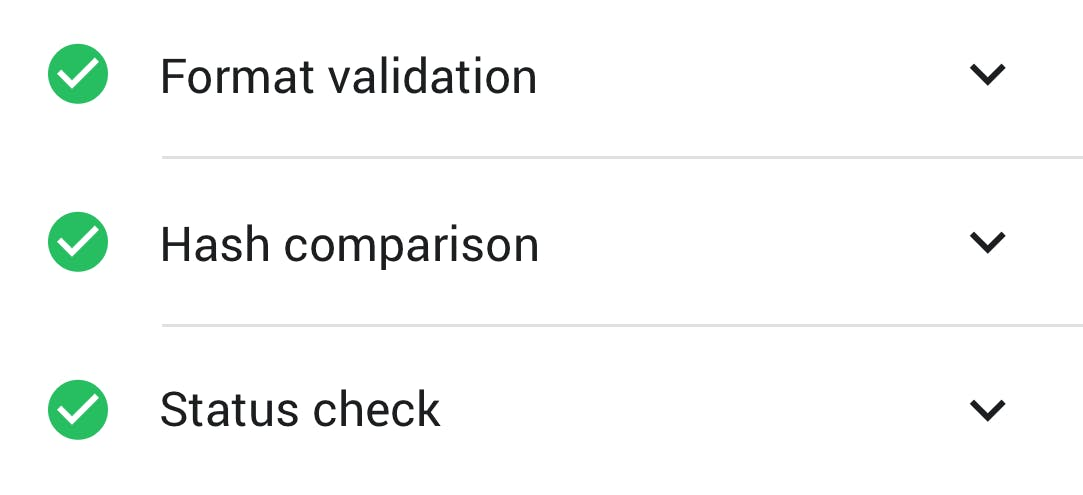 Digital signature validation