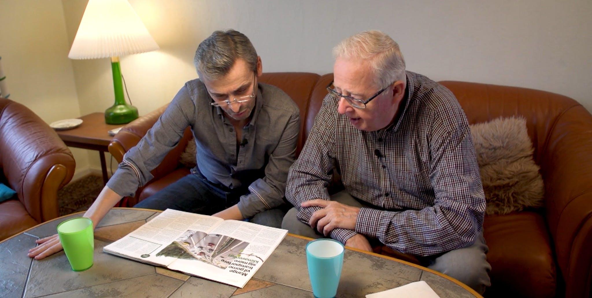 Der er opstået et tæt venskab mellem Elderlearn-matchet Rahim og Peter, som har mødtes i over et år. Foto: Elderlearn.