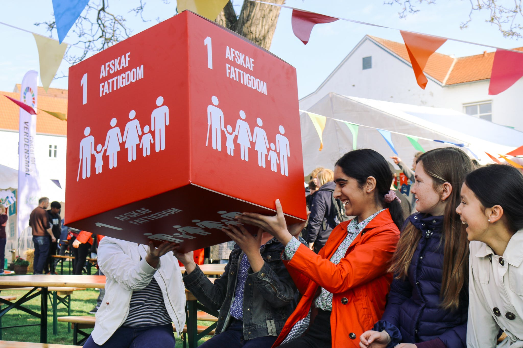 Børn og skoleelever oplevede Verdensmålene i Sønderborg. Foto: Laura Werup/Sustainable Now