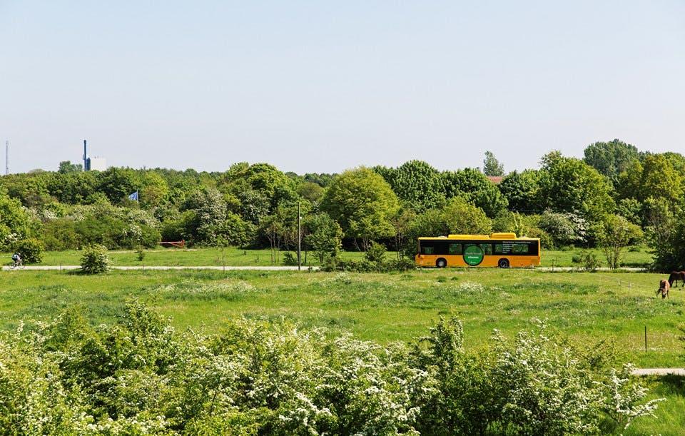 Det går hurtigt med at få gjort den kollektive trafik grøn. Foto: Ulrik Jantzen // Transportministeriet