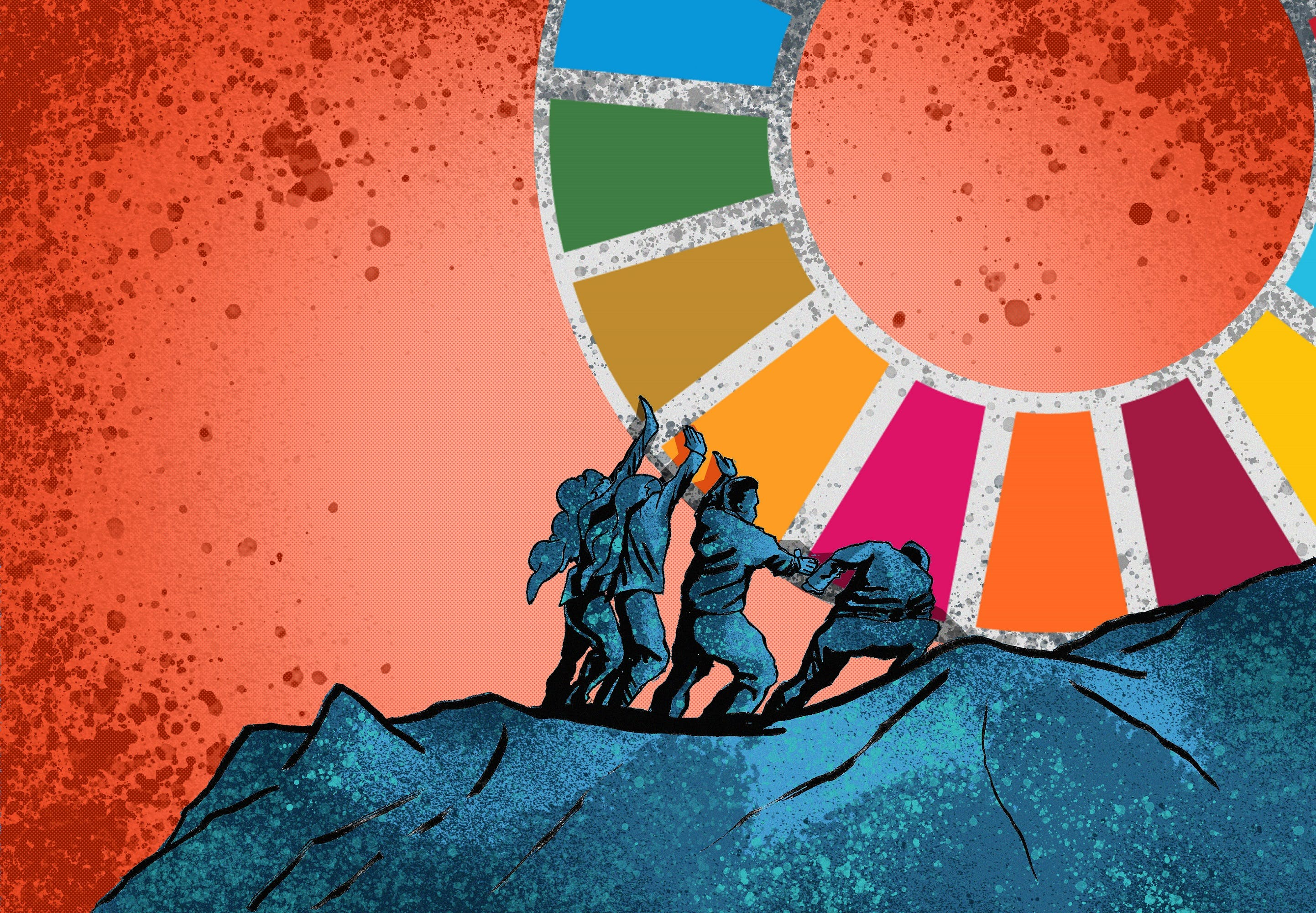 Verdensmålsakademiet for unge, der vil skubbe på for bæredygtighed i Danmark, er åbnet for tilmeldinger. Illustration: Lauge Eilsøe-Madsen