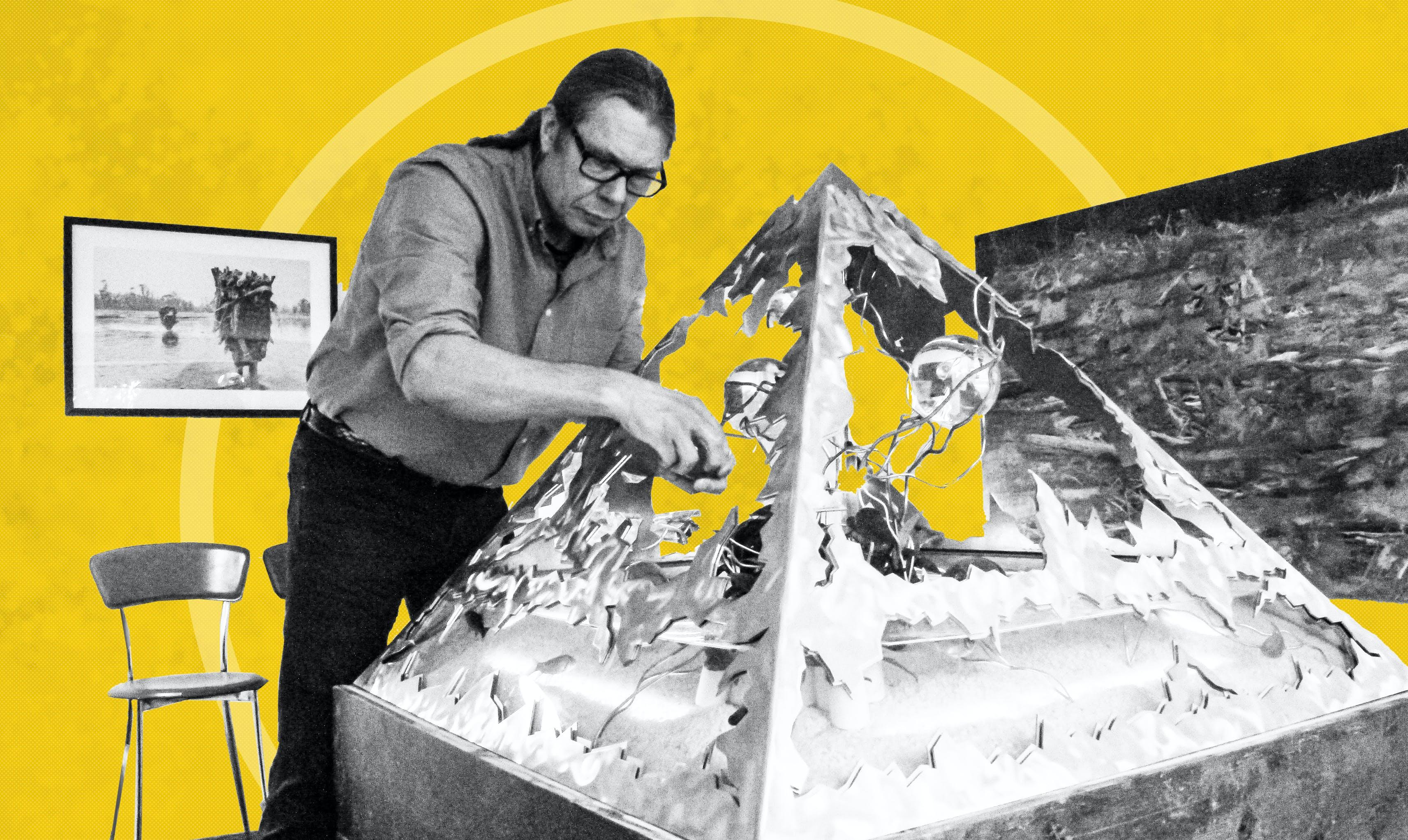 På Galleri Lorien bruger de kunsten til at fortælle om Verdensmålene. Hvert værk præsenterer ét eller flere af Verdensmålene. Foto og grafik: Lauge Eilsøe-Madsen