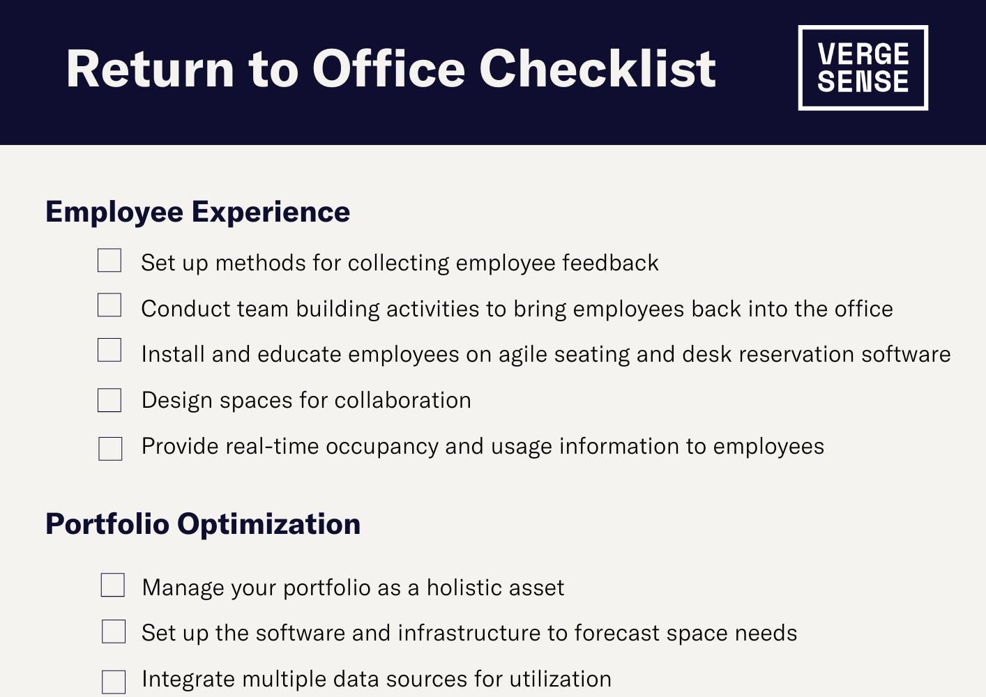 Return to Office Checklist