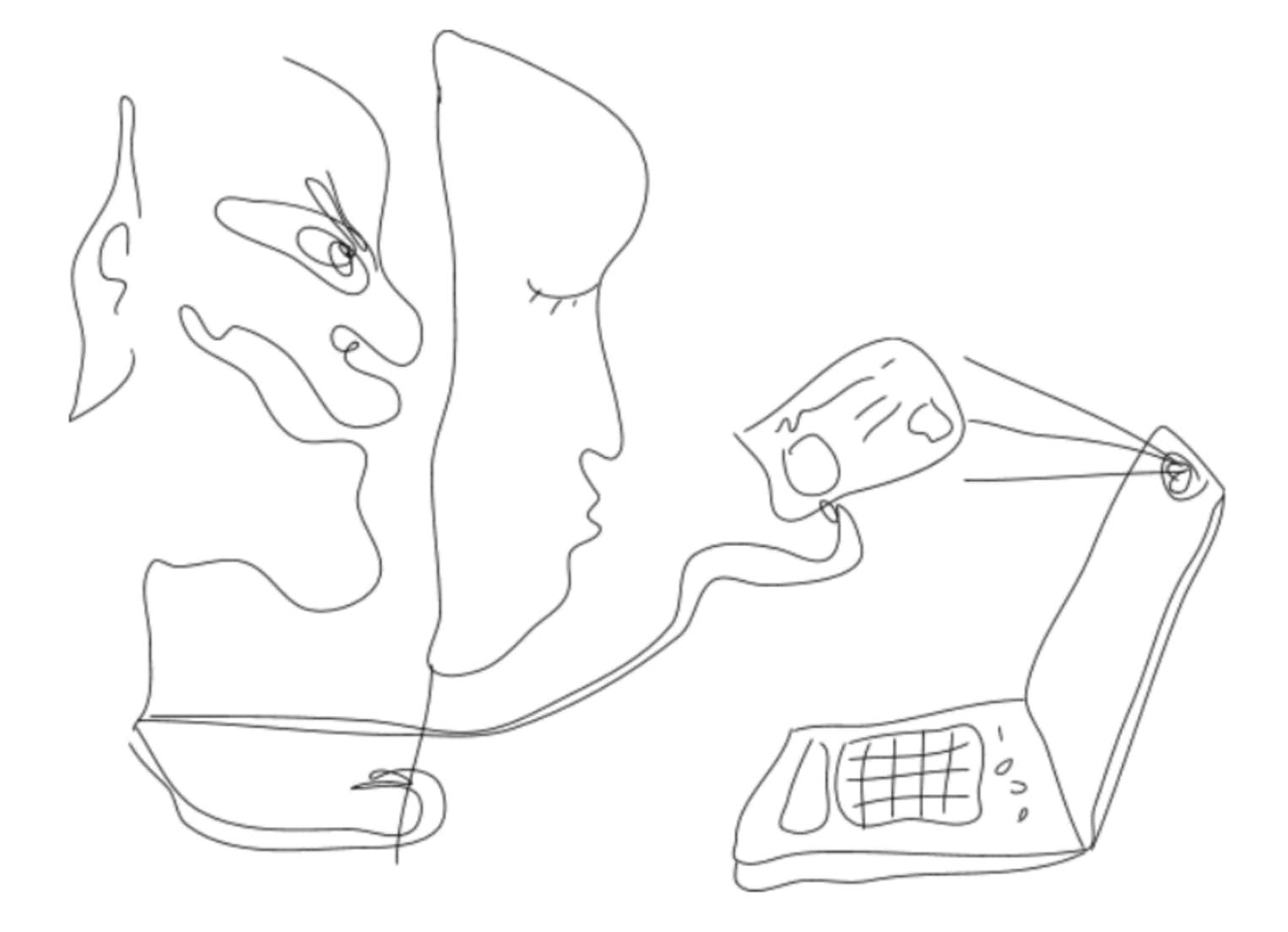 Online identity fraud illustration