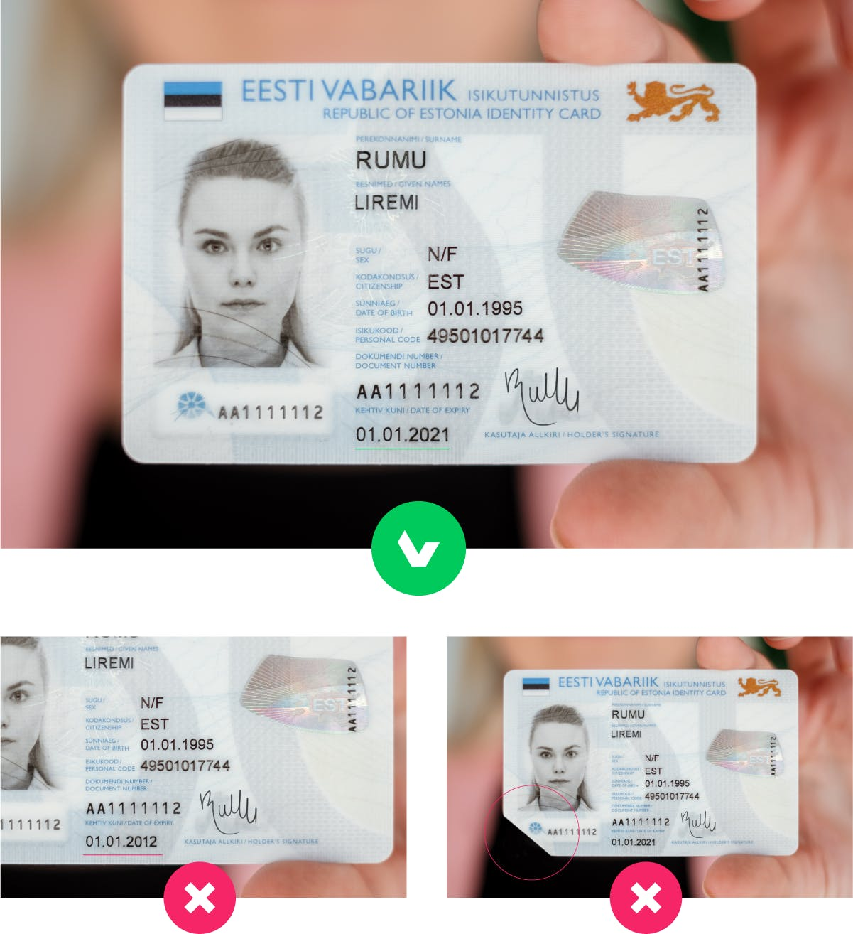 Have your id ready for identity verification