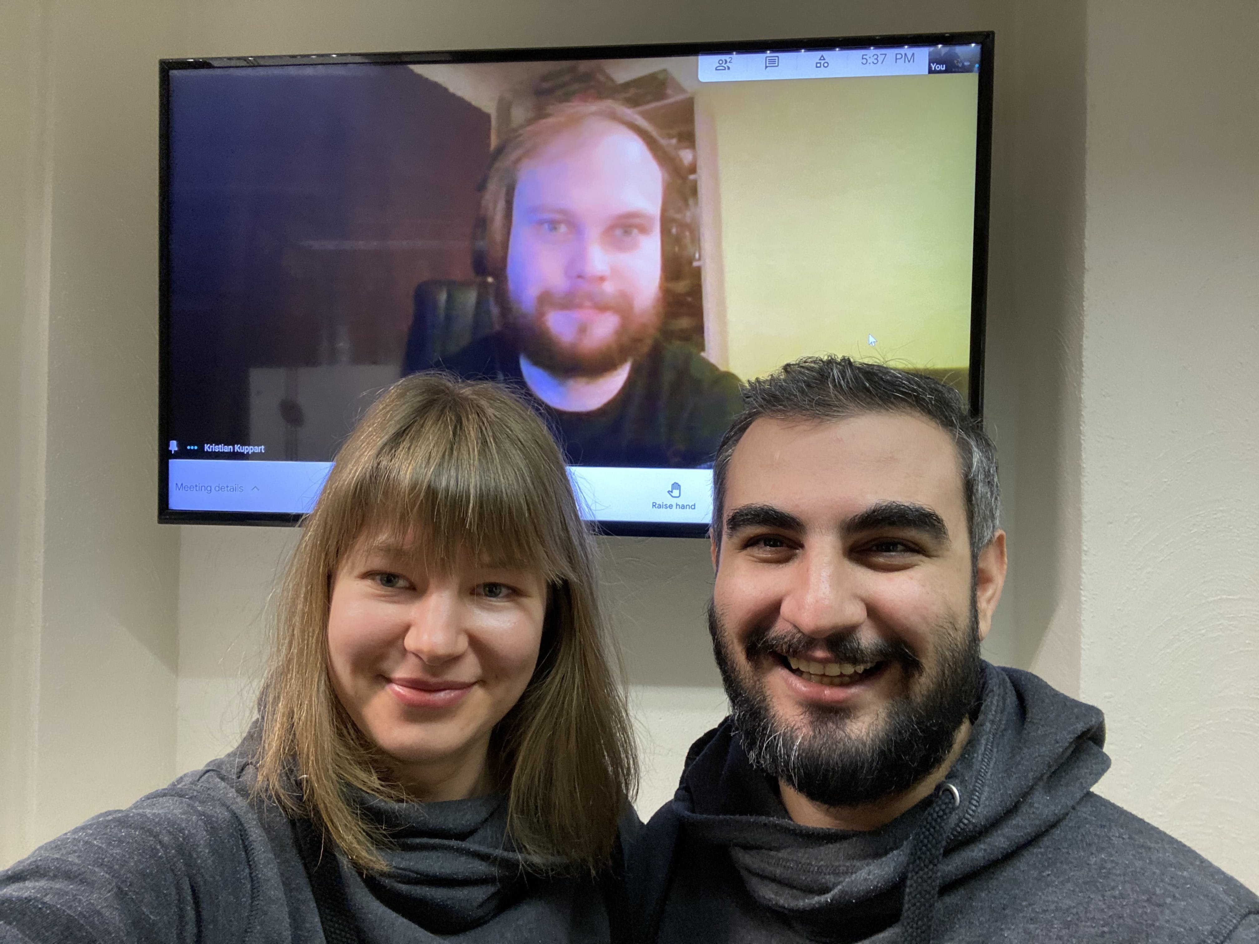 Ana, Ibrahim & Kristjan, who worked together to start creating Face Match