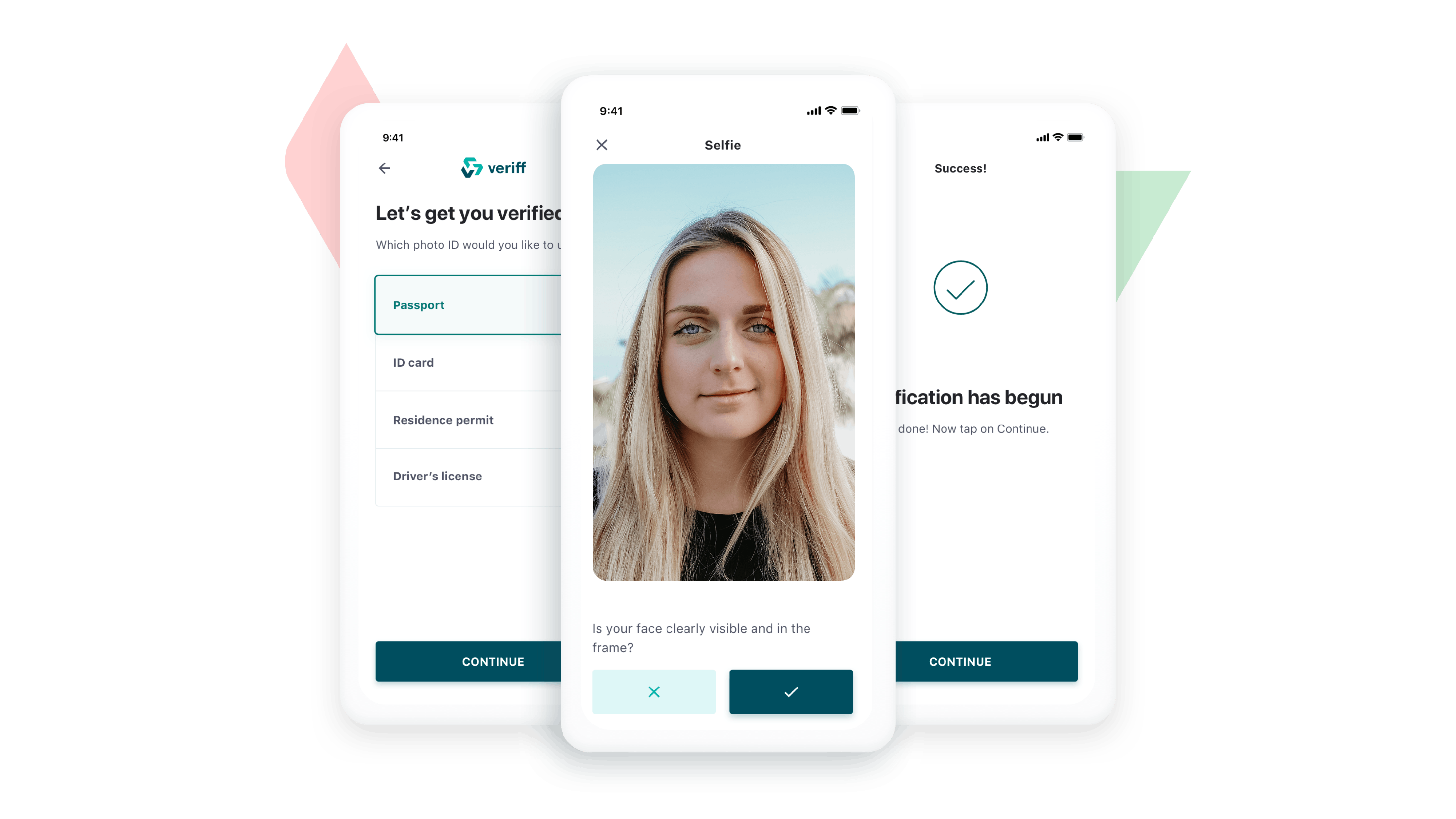 A sample of the new look of Veriff's identity verification flow