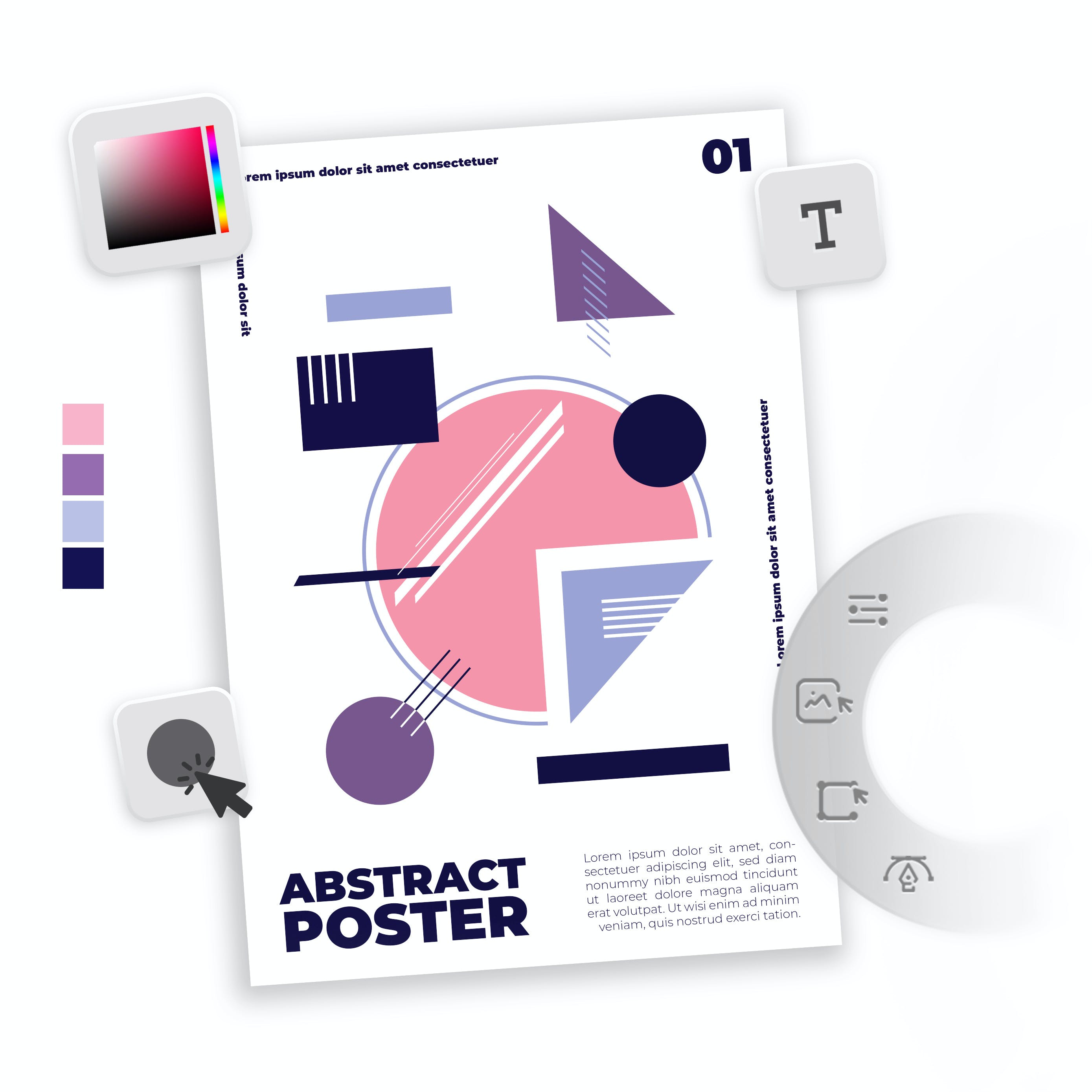 Image of poster maker tools
