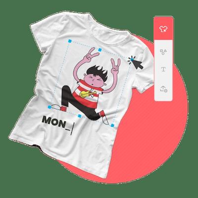 Ilustração do fabricante de camisetas