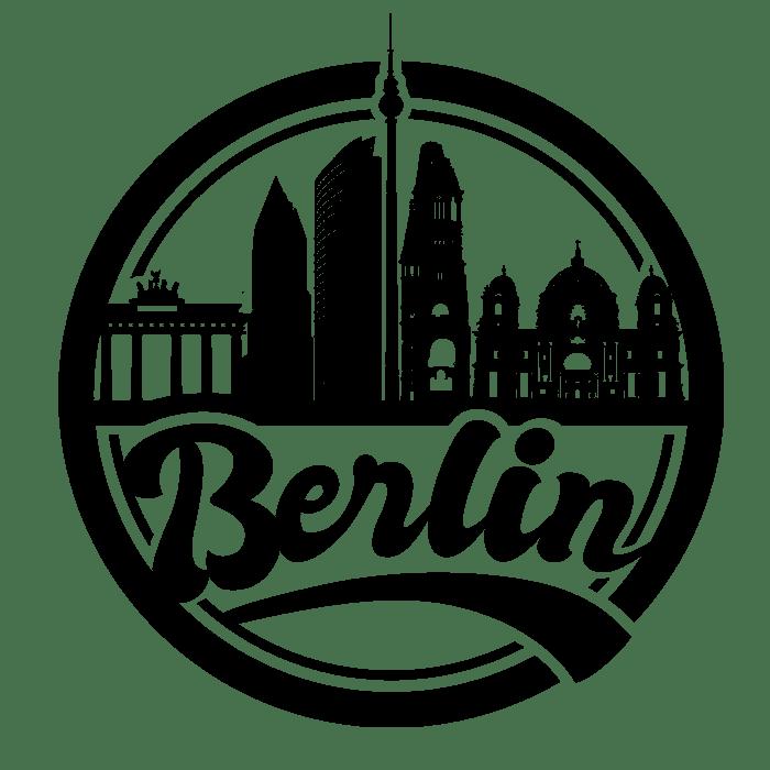 Berlin skyline lettering design